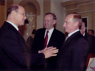 With President of Russia, Vladimir Putin and Prime Minister Chretien.