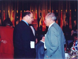 With Former Prime Minister, Right Honourable Pierre Trudeau.